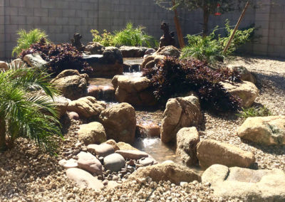 Residential Rock Pondless Waterfall